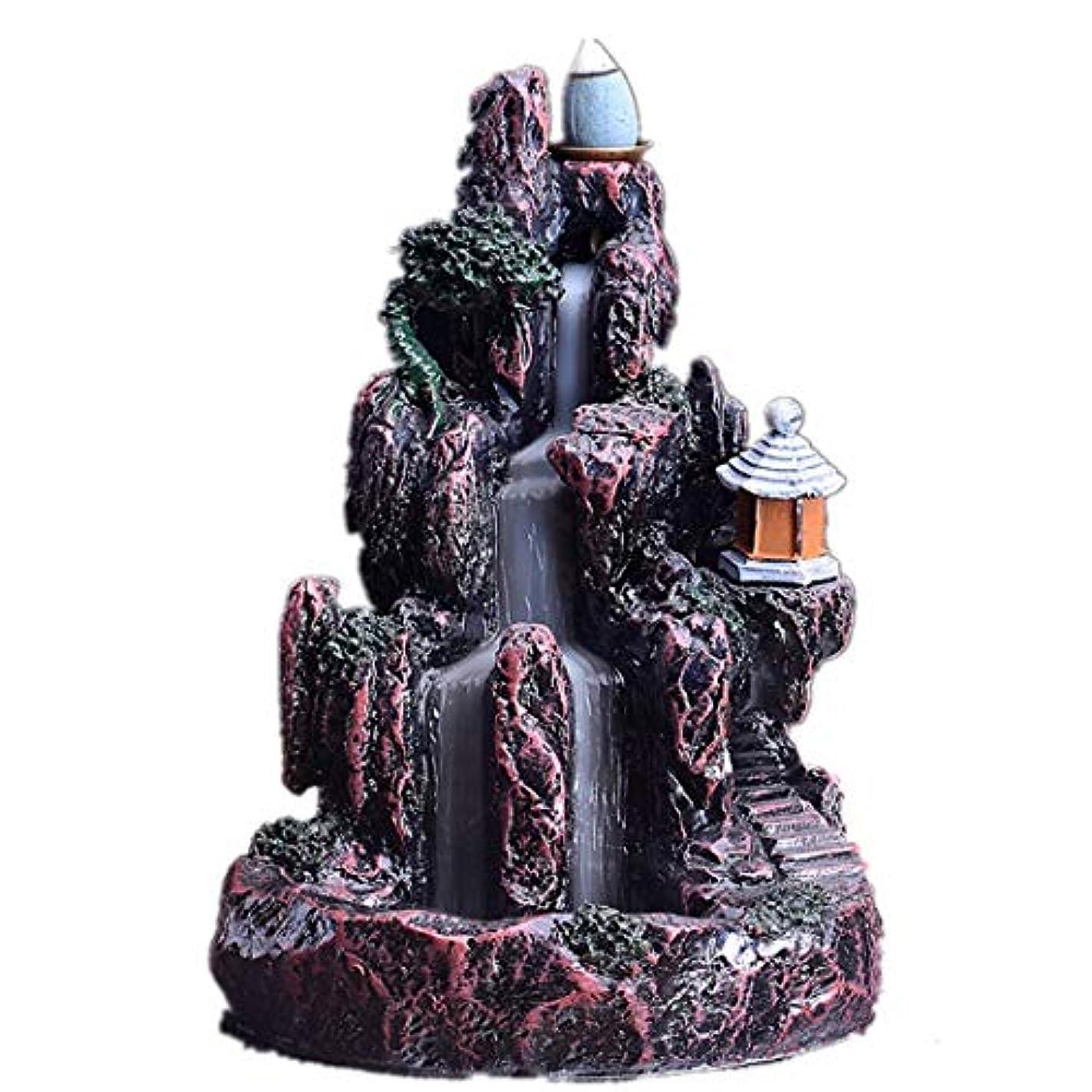 放棄された荒涼とした影響XPPXPP Backflow Incense Burner, Household Ceramic Returning Cone-shaped Candlestick Burner