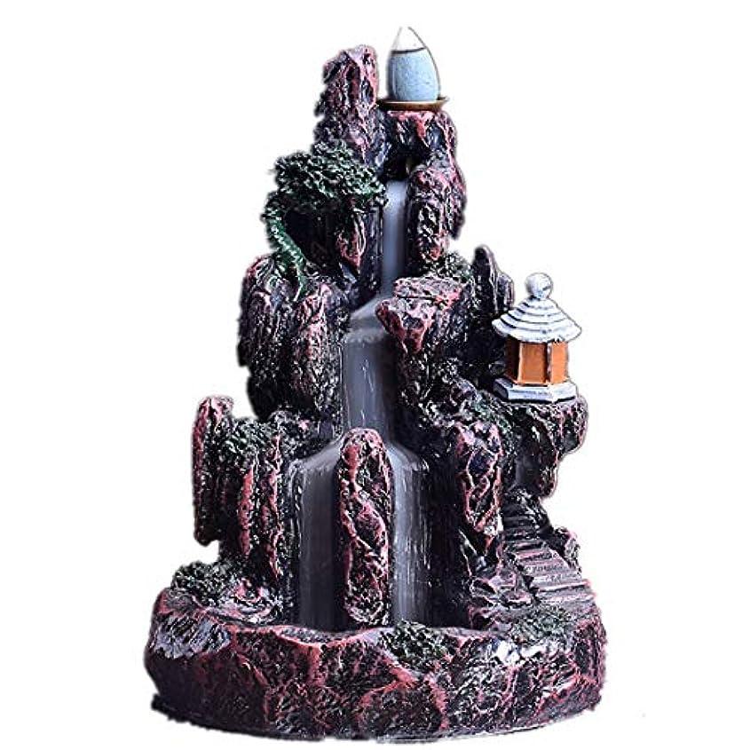 終わった逃げる気体のXPPXPP Backflow Incense Burner, Household Ceramic Returning Cone-shaped Candlestick Burner