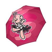 ガールズ折りたたみ式ピンククラシック傘防風雨折りたたみ式コンパクトトラベル傘