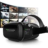Corettle VR ゴーグル 3D 効果 映画 動画 ゲーム メガネ ヘッドセット VR BOX スマホ対応 3.5-6インチ iPhone Xperia Galaxyなどに対応
