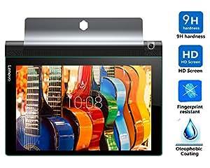 Lenovo Yoga Tab 3 10 強化 ガラス フィルム 【KuGi】 表面硬度9H ラウンド加工 飛散防止処理 超耐久 超薄型 指紋防止 気泡防止 高透過率 Lenovo タブレット YOGA Tab 3 10.1型 専用 ガラスフィルム
