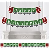 End Zone - Football - Birthday Party Bunting Banner - Sports Party Decorations - Happy Birthday [並行輸入品]