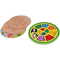 Baoblaze 木製 5イン1 チェス ボードゲーム チェッカーボード 子供 教育玩具