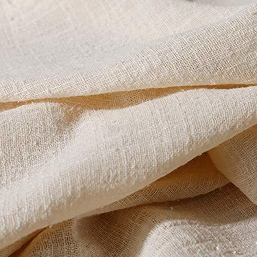 KMS ふんわり コットン リネン 綿麻 生地 ハンドメイド 衣服 カーテン 幅130㎝ 21カラー (1m, ベージュ)