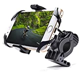 "MICTUNING Adjustable Bike Motorcycle Phone Mount with Security Band Universal for iPhone, Galaxy 2.5"" Up to 3.7"" Wide Phones"