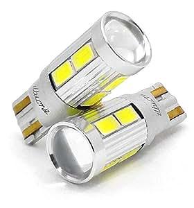 T10 T16 LEDバックランプ 2個セット CREE XB-D + 5630 ホワイト ポジション 8連SMD 12V 6000K ルームランプ 白 先端プロジェクター W5W W16W ウェッジシングル球 LT10-8S5630-PW illumicraft(イルミクラフト)
