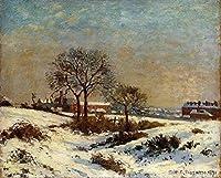 手描き-キャンバスの油絵 - 風景画 under 雪景色 upper norwood 1871 カミーユ・ピサロ 芸術 作品 洋画 ウォールアートデコレーション -サイズ01