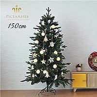クリスマスツリー クリスマスツリー150cm おしゃれ 北欧 PiceaAbies オーナメント LED(ナチュラルホワイト)
