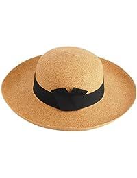 甘いかわいい女子学生の麦わら帽子 - 夏の日陰日帽子旅行ホリデービーチ帽子帽子ワイド帽子 (色 : B)