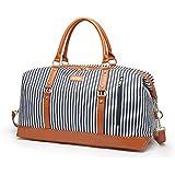 Fitness Bag, Ladies Hand Canvas Stripe Shoulder Bag, Male Gym Bag