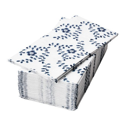 RoomClip商品情報 - IKEA(イケア) ALLDAGLIG ペーパーナプキン ホワイト ブルー 30 ピース