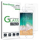 amFilm (2 Pack) Screen Protector Glass for iPhone 8, iPhone 7, iPhone 6S, and iPhone 6 - Tempered Glass Screen Protector Film for Apple iPhone 8, 7, 6S, and 6
