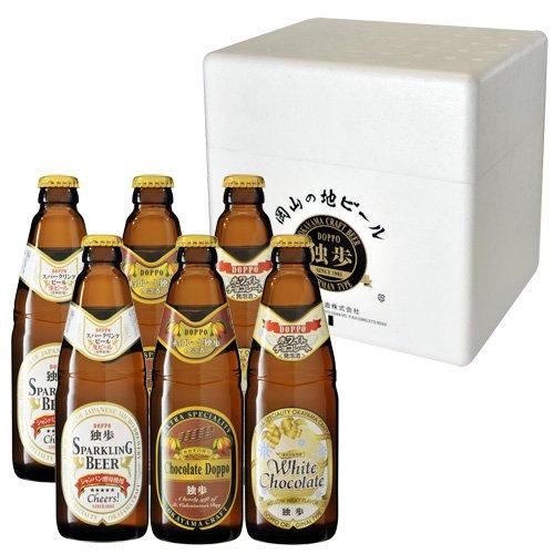 チョコレート独歩・ホワイトチョコレート独歩・スパークリングビール6本セット クリスマス・バレンタインデー・ホワイトデーに最適