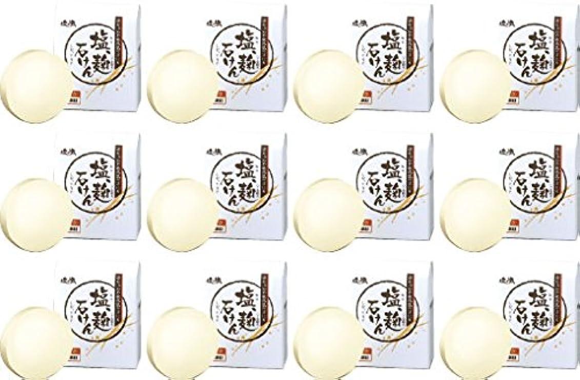 デッドロックまどろみのあるスパイダイム 塩の精 無添加 塩、麹石けん 80g 12個セット