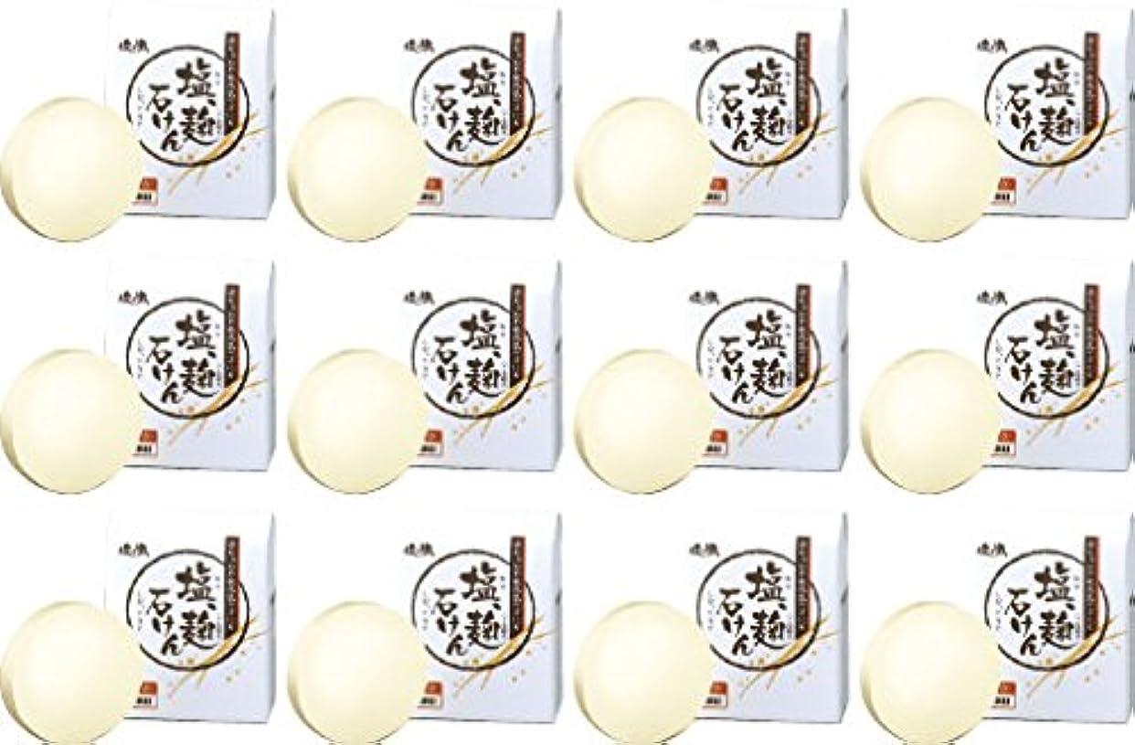 住人生きるバックアップダイム 塩の精 無添加 塩、麹石けん 80g 12個セット