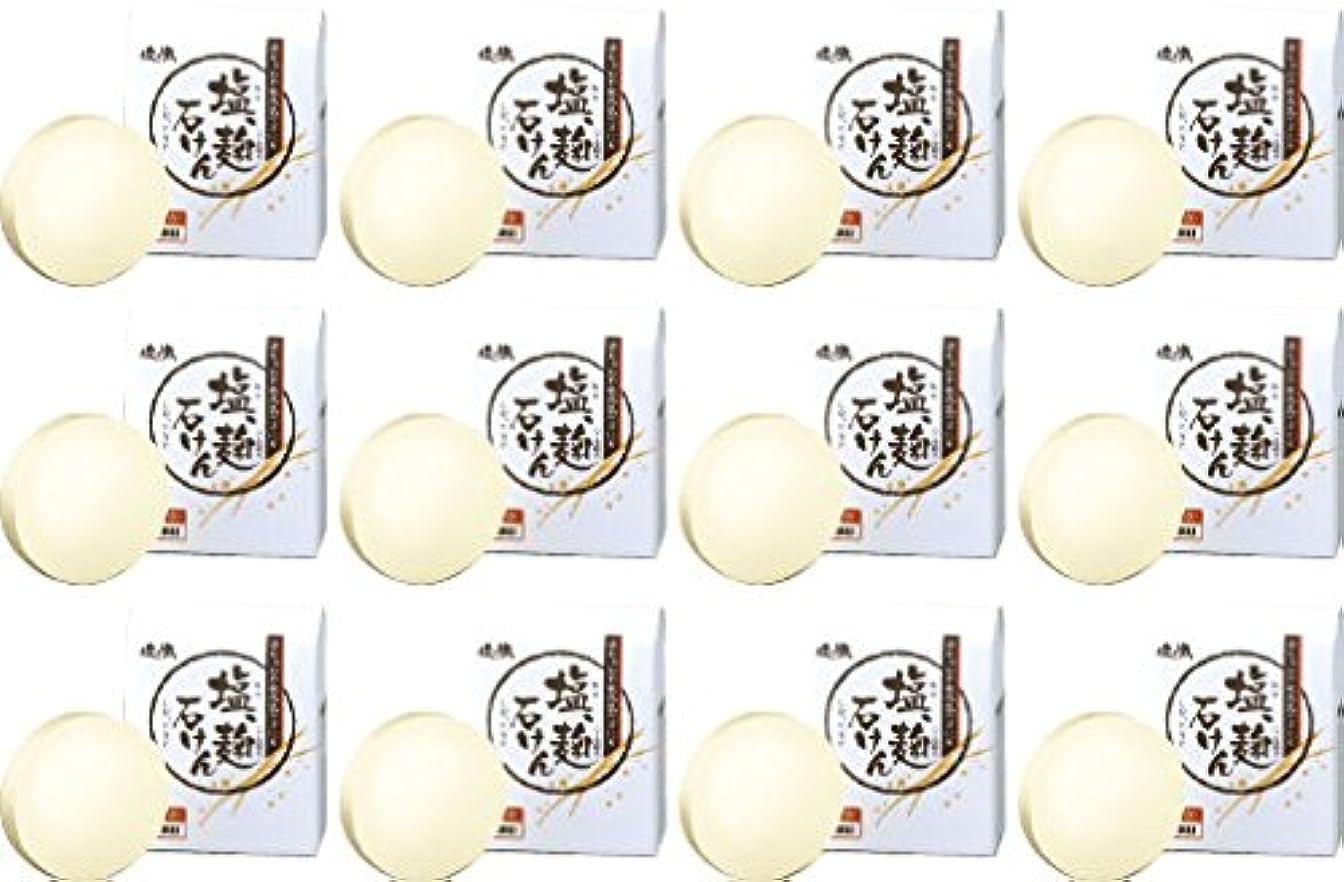 スチュワーデス資格情報容疑者ダイム 塩の精 無添加 塩、麹石けん 80g 12個セット