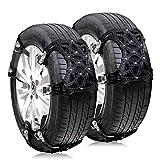 MASTORE 非金属タイヤチェーン 自動車 スノーチェーン 簡単装着 ジャッキアップ不要 冬季 凍結 雪道 タイヤ スリップ防止 雪対策 (ER11)