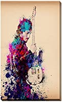 Picture Perfect International Bruce Springsteen Splats And Guitar I by Bekim Mehovic Giclee Stretched Canvas Wall Art 24 x 40 x 1 [並行輸入品]