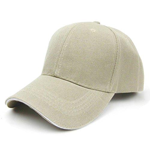 ONE LIMITATION(ワン リミテーション) ツバライン ベースボール 無地 キャップ 帽子 メンズ レディース (11.ベージュ)