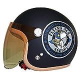 アークス(AXS) SNOOPY バイカーズ・シスターズ・リミテッド・エディション レディース用 ジェットヘルメット レイトオリジナルカラー バイカーズ・マットネイビー レディースフリー (54~57cm) SNJ-45