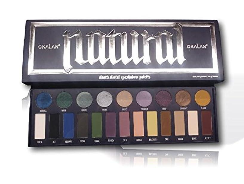 詐欺師法的オークOKALAN Matte Metal Eyeshadow Palette (並行輸入品)