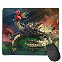 Cheng xiao Mouse Pad Powerful Crab Graphics Art Rectangle Rubber Mousepad Non-toxic Print Gaming Mouse Pad with Black Lock Edge,9.8 * 11.8 in,ベーシック マウスパッド ゲーム用 標準サイズ