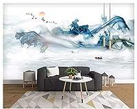 Mbwlkj 新しいファッション人格インテリア壁紙抽象的なインク風景芸術的概念ライン背景-300cmx210cm