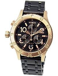 [ニクソン] NIXON 腕時計 ユニセックス 38-20 クロノグラフ ブラック/ローズゴールド A4042481 A404-2481 [並行輸入品]
