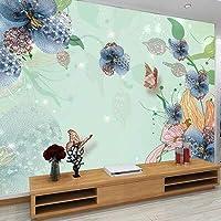 Bzbhart テレビの背景装飾画、壁用ステッカージュエリー花壁の壁画中国リビングルームの背景のための壁の壁紙家の装飾寝室花の絵画-120cmx100cm