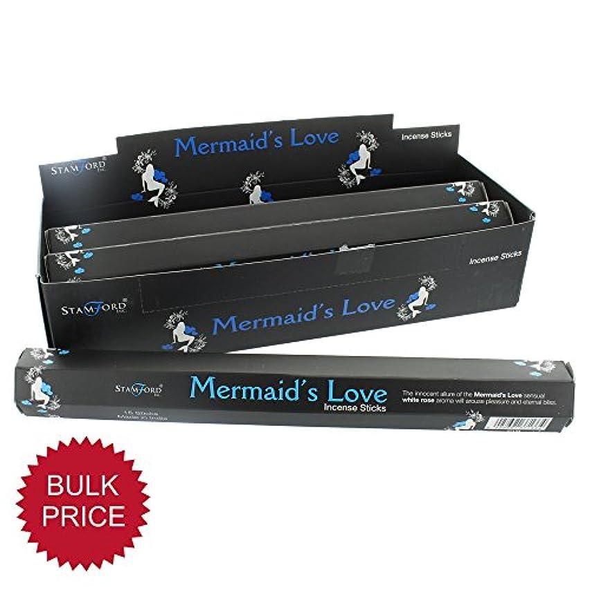 シチリアグロー分数37133 Mermaid 's Love StamfordブラックIncense Sticks