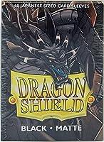 Arcane Tinman Sleeves: Dragon Shield Matte Japanese Black (60) [並行輸入品]