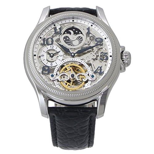 【アルカフトゥーラ 】ARCA FUTURA 腕時計 機械式(自動巻き) メンズ・牛革ベルト(ブラック)23145NNSKBK【国内正規品】