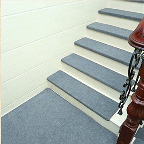 [해외]Bulary 계단 매트 미끄럼 방지 고급 계단 매트 구부릴 무지 간단 고급 두꺼운 소재 빨 계단 매트 방음 탈취 넣으면 흡착 애완 동물과 아이에게 상처 방지에 반복 붙일 5 매입/Bulary Stair mats Non-slip luxury stairway mats Folded plain simple ...