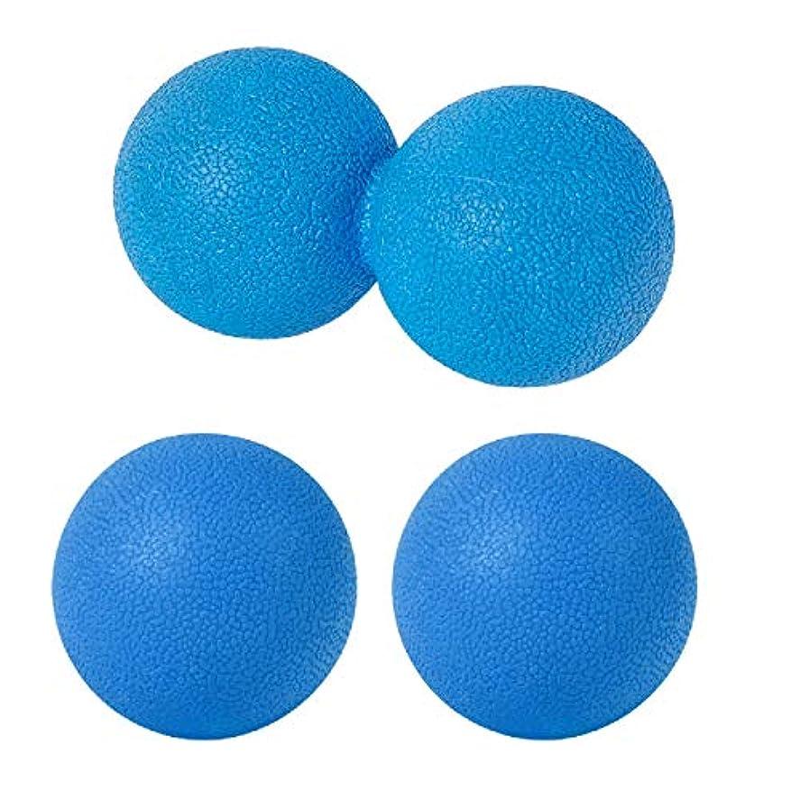 攻撃的可塑性悪化するsac taske マッサージボール ストレッチ ピーナッツ ツボ押し トリガーポイント 3個セット (ブルー)