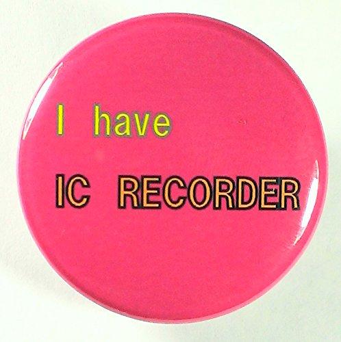 防犯バッジ 「I have IC RECORDER」いじめ・...