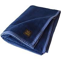 TRANPARAN 日本製 綿毛布 クーベルチュール シングル (インディゴブルー)