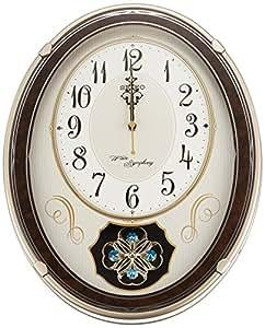 SEIKO CLOCK(セイコークロック) アミューズ電波掛時計(薄金) AM259B