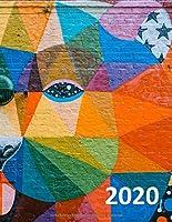 Mein Kalender 2020: Wochenplaner mit Platz fuer Notizen, jeden Monat Kalenderansicht auf einen Blick. Jan 2020 bis Dez 2020