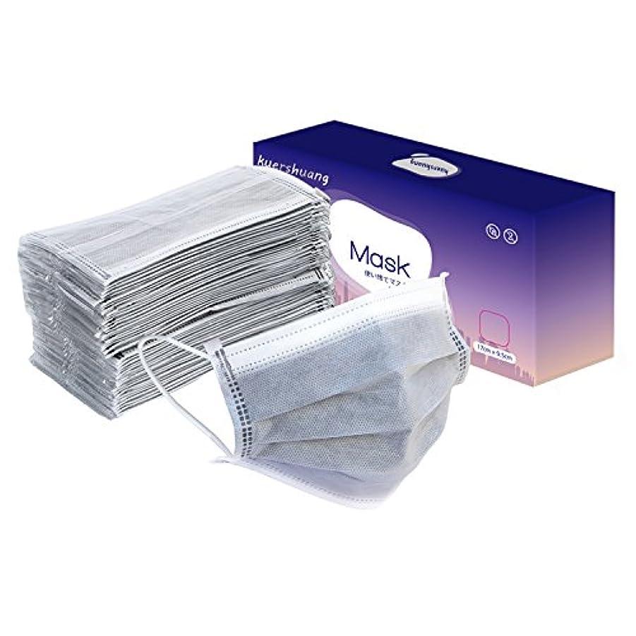 る覗く樫の木Kuershuang マスク PM2.5対応 レギュラーサイズ 大人用 個別包装マスク 30枚入 グレー
