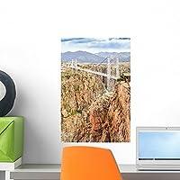 Royal Gorge Suspension Bridge by Wallmonkeys Peel and Stick Graphic (18 in H x 12 in W) WM360947 [並行輸入品]