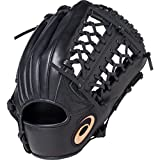 asics(アシックス) 軟式 野球用 グローブ オールポジション(左投げ用) ジュニア用 DIVE ダイブ サイズ大 2019年モデル 3124A050 ブラック RH(左投げ用)
