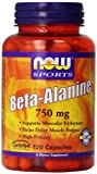 海外直送品 Now Foods Beta Alanine, 120 Caps 750 mg