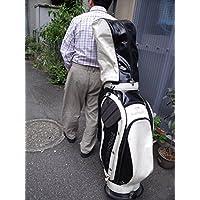 キャデイ台車運搬具 押して楽チン肩に負担なし。バック円形200Φ~270Φ対応、バックごと車にバスに乗せゴルフ場のカートに載せプレー可能、行き帰りラクラク移動。