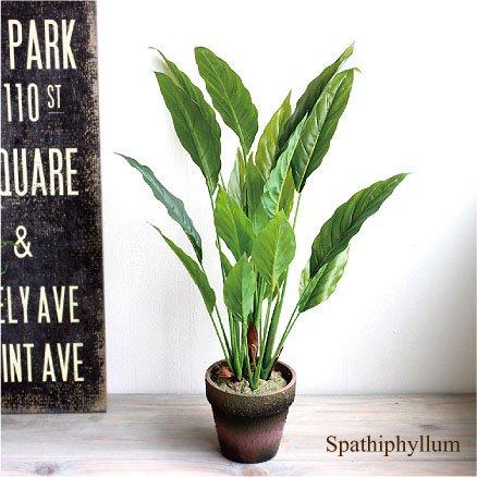 観葉植物 スパティフィラム H48 造花 消臭 CT触媒 インテリア フェイクグリーン