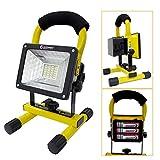 GOODGOODS LED投光器 充電式 24W ポータブル投光器 電池交換対応式 GH12-2