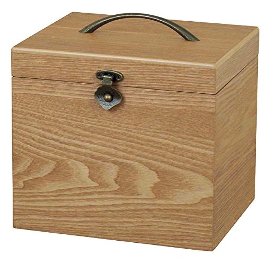 大事にする容量芸術的ナチュラリー コスメティックボックス ワイドミラー G-2412N