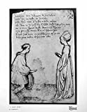 印刷A Love Duet by Pisanello Man Kneeling Lady Long Gown 1925 302q171