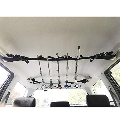 CAMPAM ミニバン 1BOX 適合 車載 車内用 ロッドホルダー ロッドキャリー ロッド キーパー ルアー 船 ボート スピニング ベイト リール対応 CAM-BKBL
