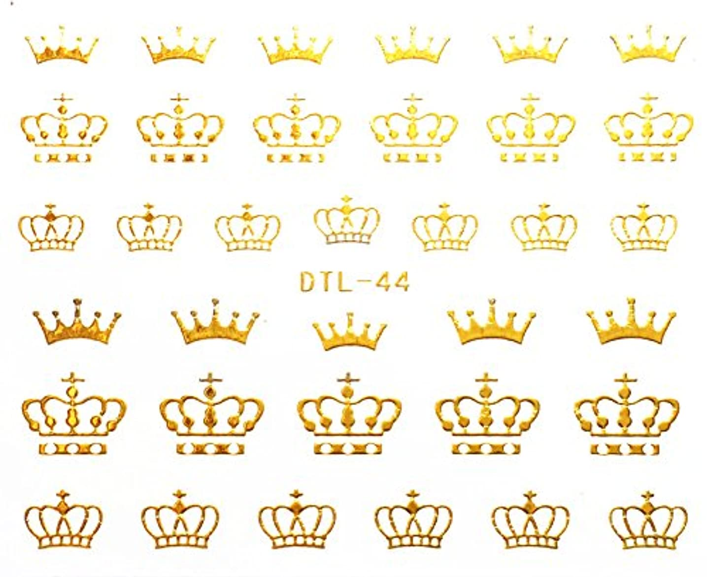 気候の山慣習海嶺ネイルアート3Dデカルステッカー ネイルステッカータトゥー ネイル用シール?ステッカー 王冠 - DTL044 - StickerCollection