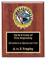 Racing Plaque Trophy 6x 8Wood Go Kart Stock Car Race賞Free Engraving